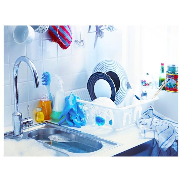 FLUNDRA Dish drainer, white