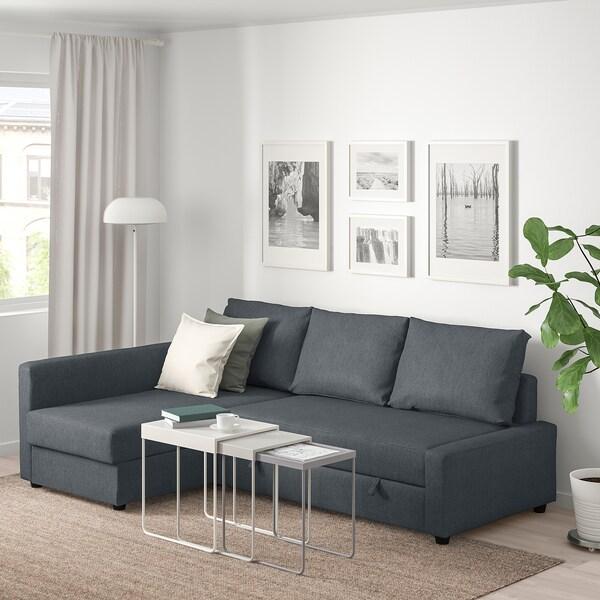 FRIHETEN Corner sofa-bed with storage, Hyllie dark grey