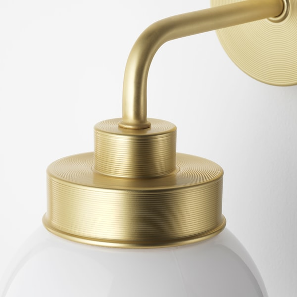 FRIHULT Wall lamp, brass-colour