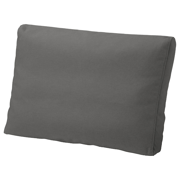 FRÖSÖN غطاء وسادة ظهر, خارجي رمادي غامق, 62x44 سم