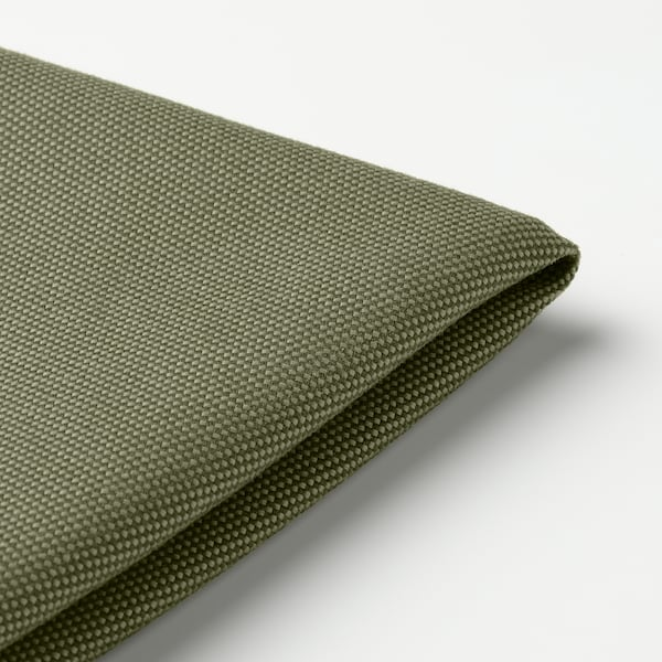 FRÖSÖN Cover for chair cushion, outdoor/dark beige-green, 35 cm