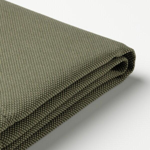 FRÖSÖN Cover for chair cushion, outdoor/dark beige-green, 50x50 cm