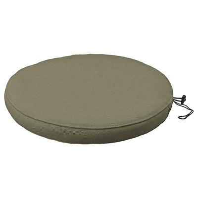 FRÖSÖN/DUVHOLMEN Chair cushion, outdoor, dark beige-green, 35 cm