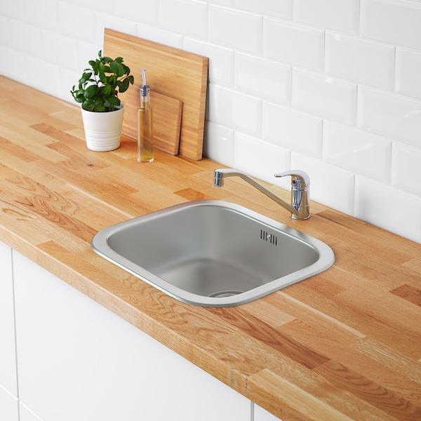 FYNDIG Inset sink, 1 bowl, stainless steel, 46x40 cm