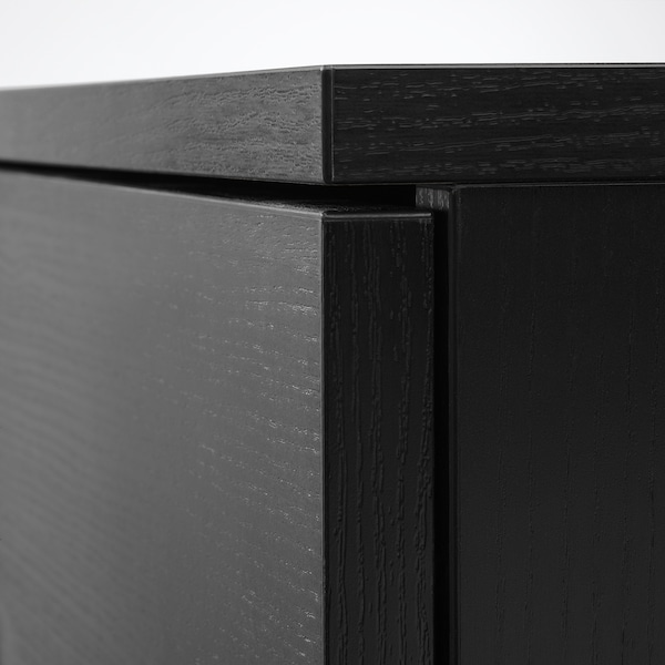 GALANT Cabinet with doors, black stained ash veneer, 80x120 cm