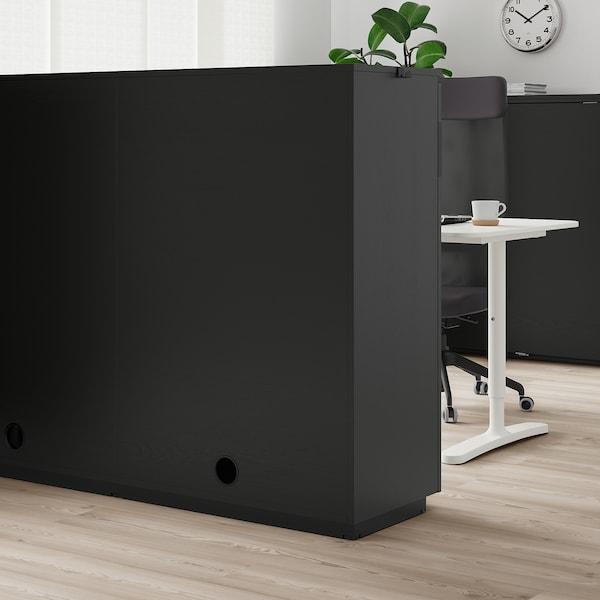 GALANT وحدة تخزين بأبواب جرارة, قشرة الدردار لون الأسود, 160x120 سم