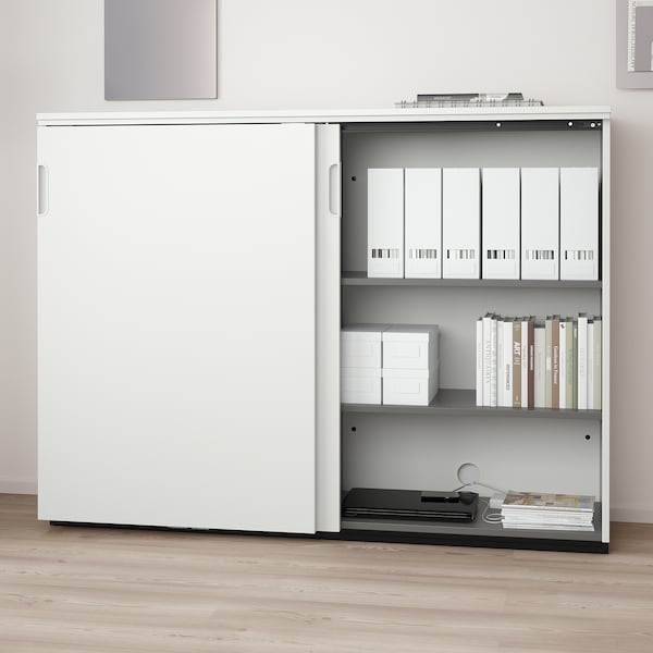 GALANT وحدة تخزين بأبواب جرارة, أبيض, 160x120 سم