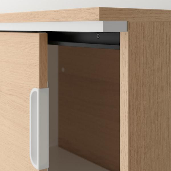 GALANT تشكيلة تخزين مع أبواب جرارة, قشرة سنديان مصبوغ أبيض, 320x120 سم