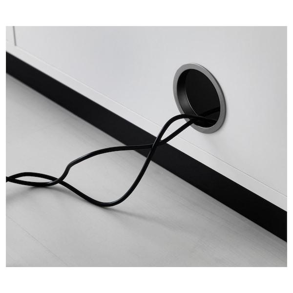 GALANT تشكيلة تخزين مع أبواب جرارة, أبيض, 320x120 سم