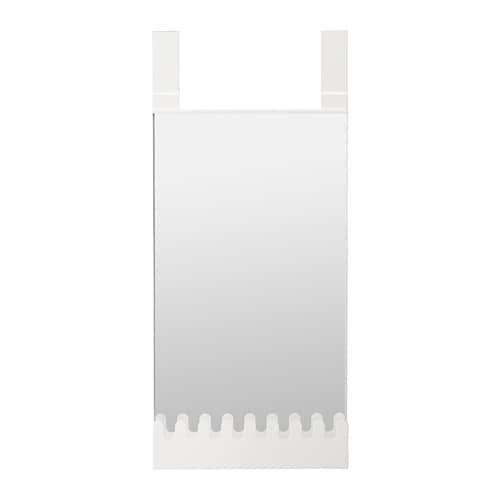 GARNES Over The Door Mirror W Hooks/shelf