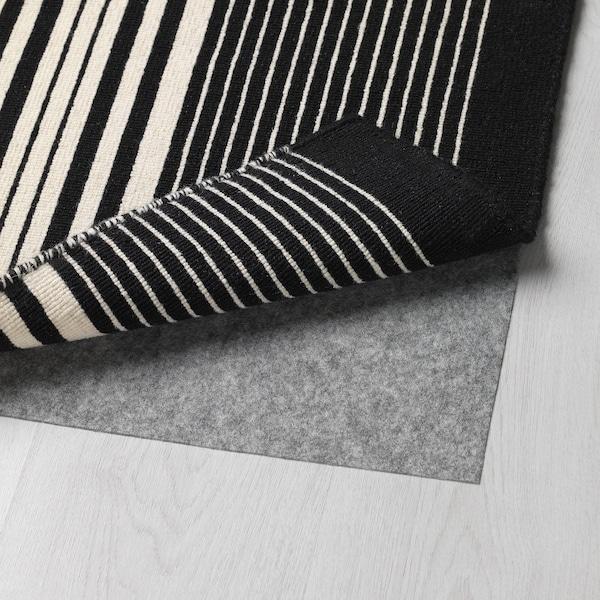 GIERSLEV Rug, flatwoven, black/white, 70x300 cm