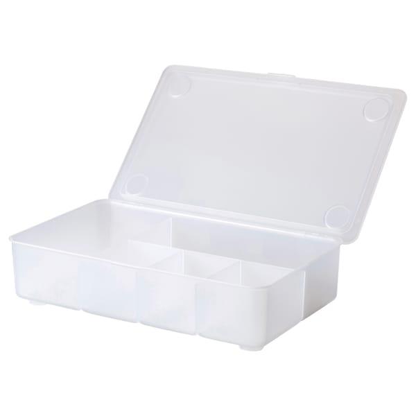 GLIS Box with lid, transparent, 34x21 cm