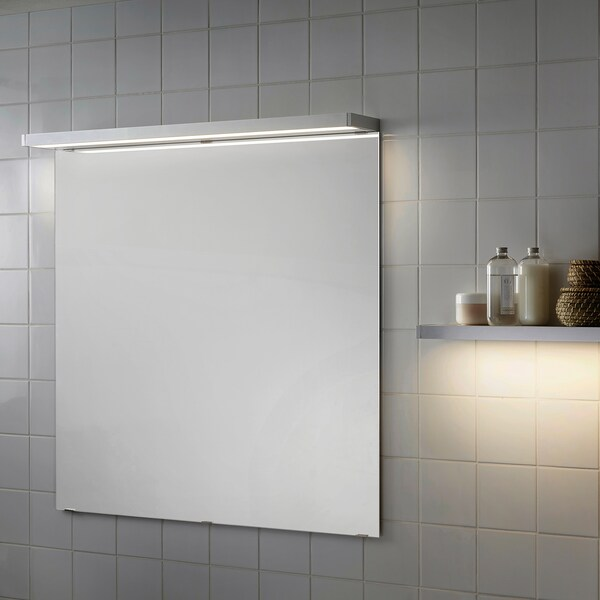 GODMORGON إضاءة خزانة/حائط LED, لون الومونيوم, 100 سم