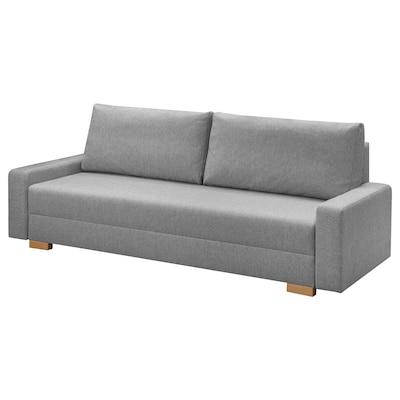 GRÄLVIKEN كنبة-سرير 3 مقاعد, رمادي