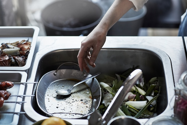 GRILLSKÄR مطبخ مع وحدة حوض، خارجي, ستينلس ستيل, 172x61 سم