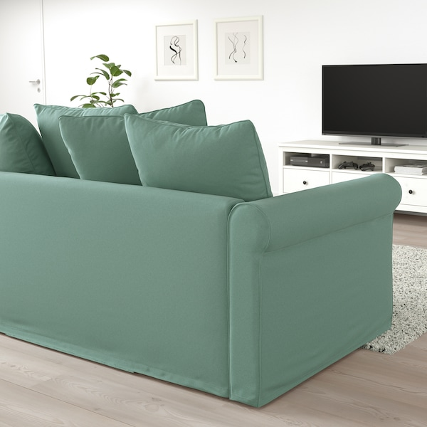 GRÖNLID كنبة-سرير بمقعدين, Ljungen أخضر فاتح