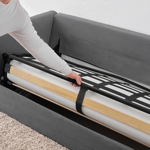 GRÖNLID كنبة-سرير بمقعدين, Ljungen رمادي معتدل