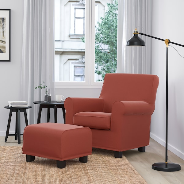 GRÖNLID Armchair, Ljungen light red