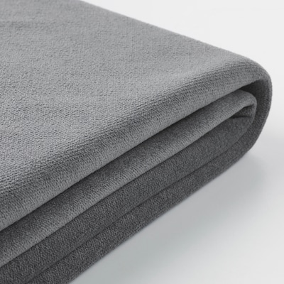 GRÖNLID غطاء كنبة - سرير 3 مقاعد, مع أريكة طويلة/Ljungen رمادي معتدل