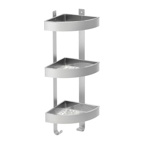 GRUNDTAL Corner wall shelf unit