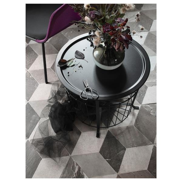GUALÖV Storage table, black, 60 cm