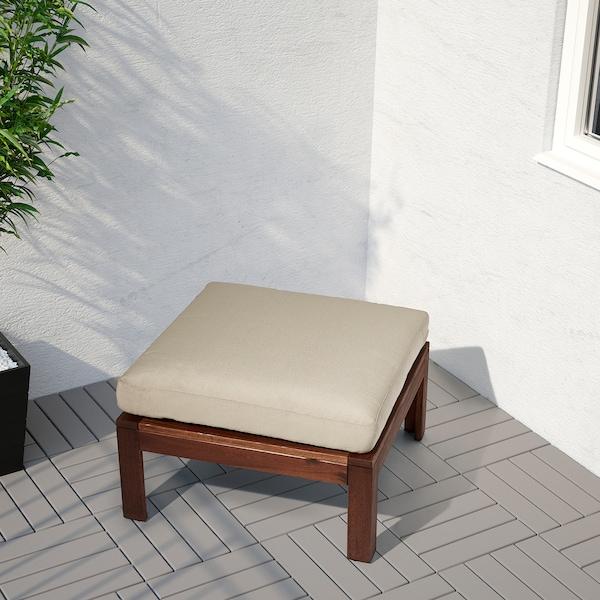 HÅLLÖ وسادة مقعد، خارجي, بيج, 62x62 سم