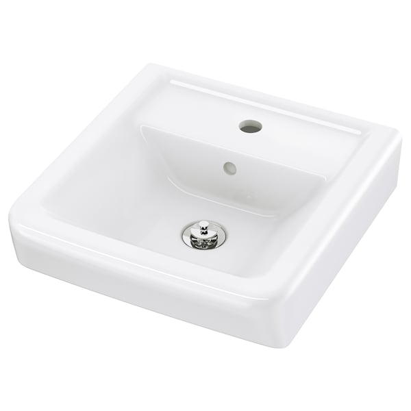 HAMNVIKEN Single wash-basin, 43x45x11 cm