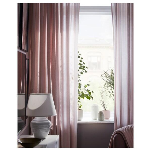 HANNALILL Curtains, 1 pair, dark pink, 145x300 cm