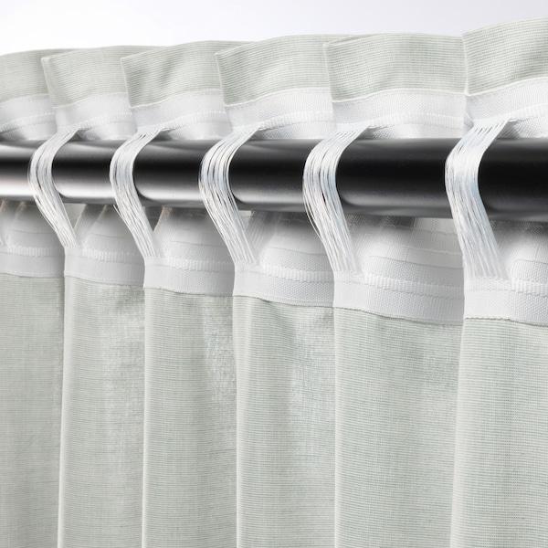 HANNALILL Curtains, 1 pair, light green, 145x300 cm