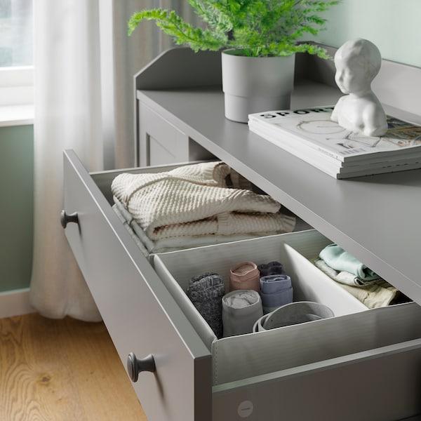 HAUGA Sideboard, grey, 140x84 cm