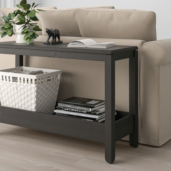 HAVSTA طاولة كونسول, بني غامق, 100x35x63 سم