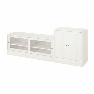 HAVSTA TV storage combination, white, 241x47x89 cm