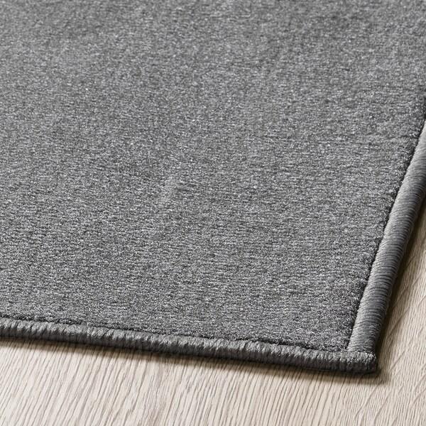 HEMMAHOS Rug, grey, 100x160 cm