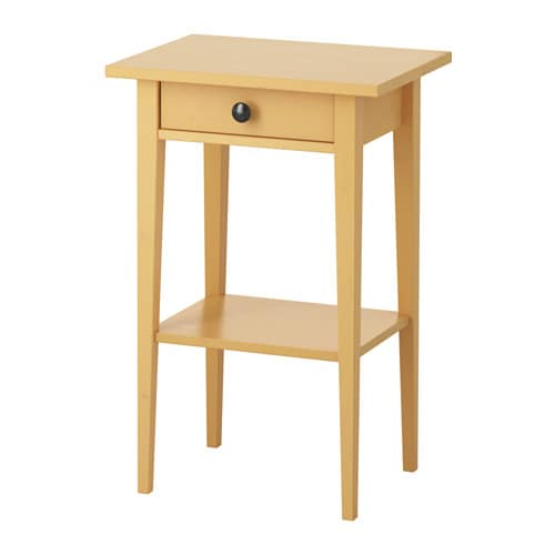 HEMNES Bedside table IKEA Made of solid wood, which is a hardwearing and  warm natural