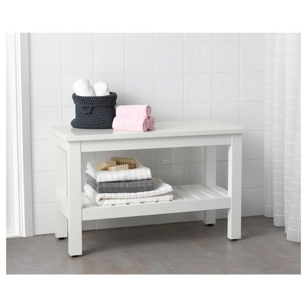 HEMNES مقعد طويل, أبيض, 83 سم