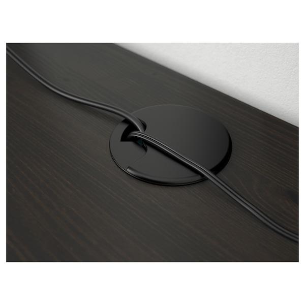 HEMNES مكتب, أسود-بني, 155x65 سم