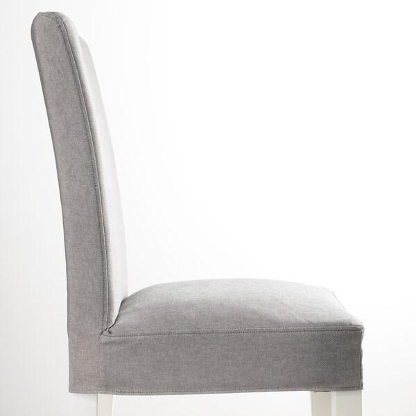 HENRIKSDAL Chair, white/Orrsta light grey