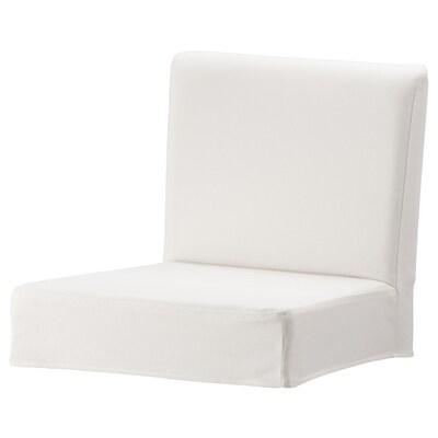 HENRIKSDAL غطاء كرسي ذو مسند للظهر, Grasbo أبيض
