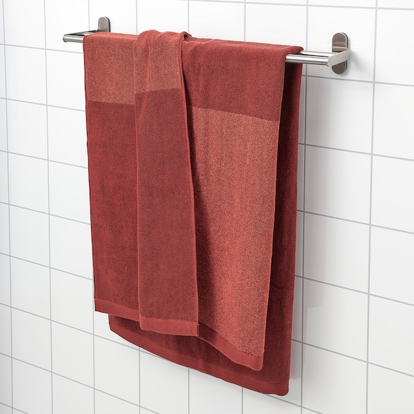 HIMLEÅN فوطة حمّام, بني-أحمر/خليط, 100x150 سم