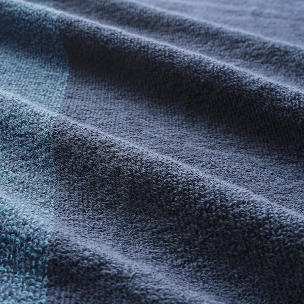 HIMLEÅN Bath sheet, dark blue/mélange, 100x150 cm