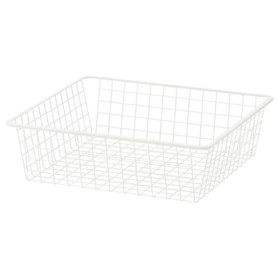 HJÄLPA Wire basket, white, 60x55 cm