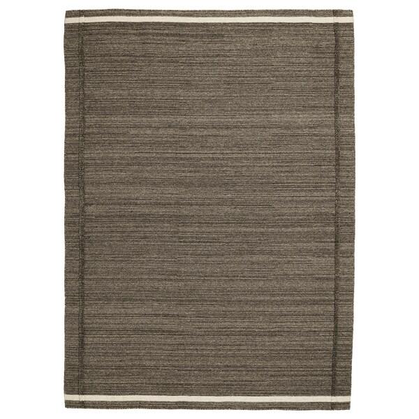 HÖJET Rug, flatwoven, handmade brown, 170x240 cm
