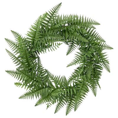 HÖSTKVÄLL Artificial wreath, in/outdoor/fern green, 45 cm