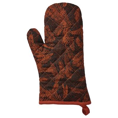 HÖSTKVÄLL Oven glove, black/red