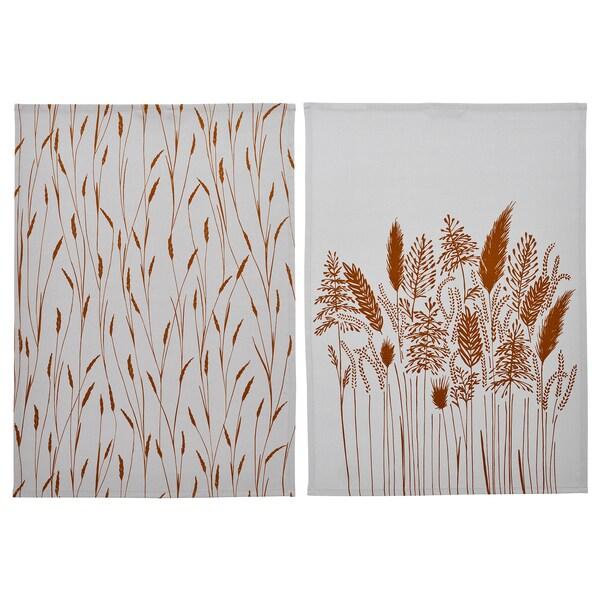 HÖSTKVÄLL Tea towel, grey, 50x70 cm