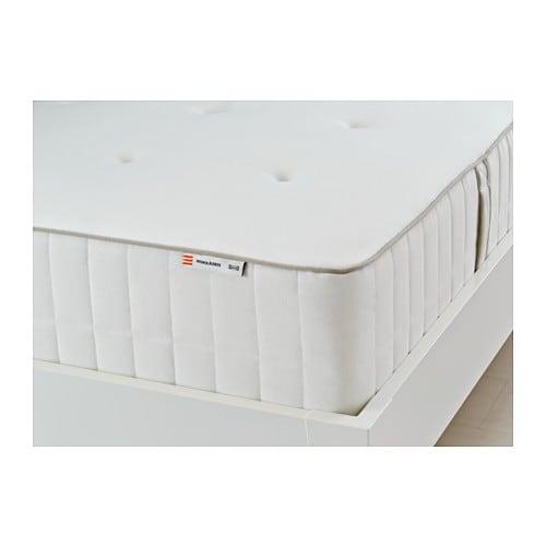 HOKKÅSEN Pocket sprung mattress, firm, white
