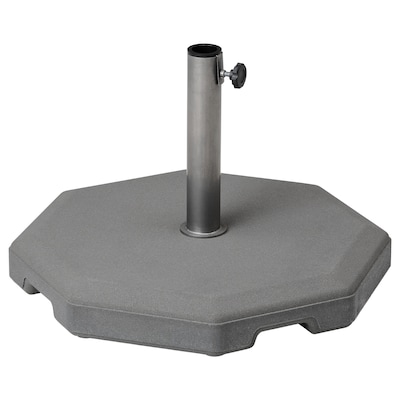 HUVÖN Parasol base, grey, 56x56 cm
