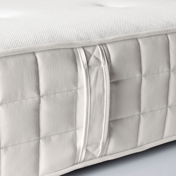 HYLLESTAD Pocket sprung mattress, medium firm/white, 90x200 cm