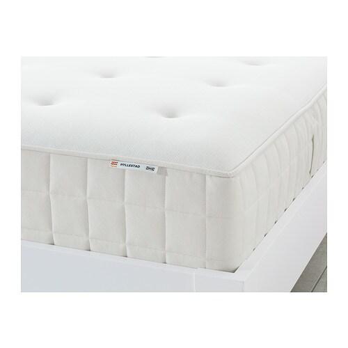 HYLLESTAD Pocket sprung mattress, medium firm, white