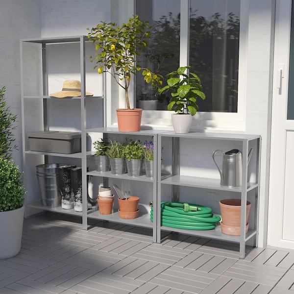 HYLLIS Shelving unit in/outdoor, 180x27x74-140 cm